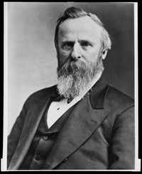 President, Rutherford B. Hayes, in office 1877-1881(Staff photo)