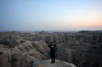 Meyer at Badlands National Park in South Dakota, where he experienced one of his more magical moments.<br>(Picasa/Courtesy of Mikah Meyer<br>)