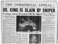 """<p><span style=""""font-size: 1em; line-height: 1.364; background-color: transparent;""""></span></p><p><span style=""""font-weight: normal;"""">Rev. Martin Luther King Jr. was shot in in Memphis, TN., where he had gone to support striking sanitation workers.</span></p><p></p><br><p></p><p></p>"""