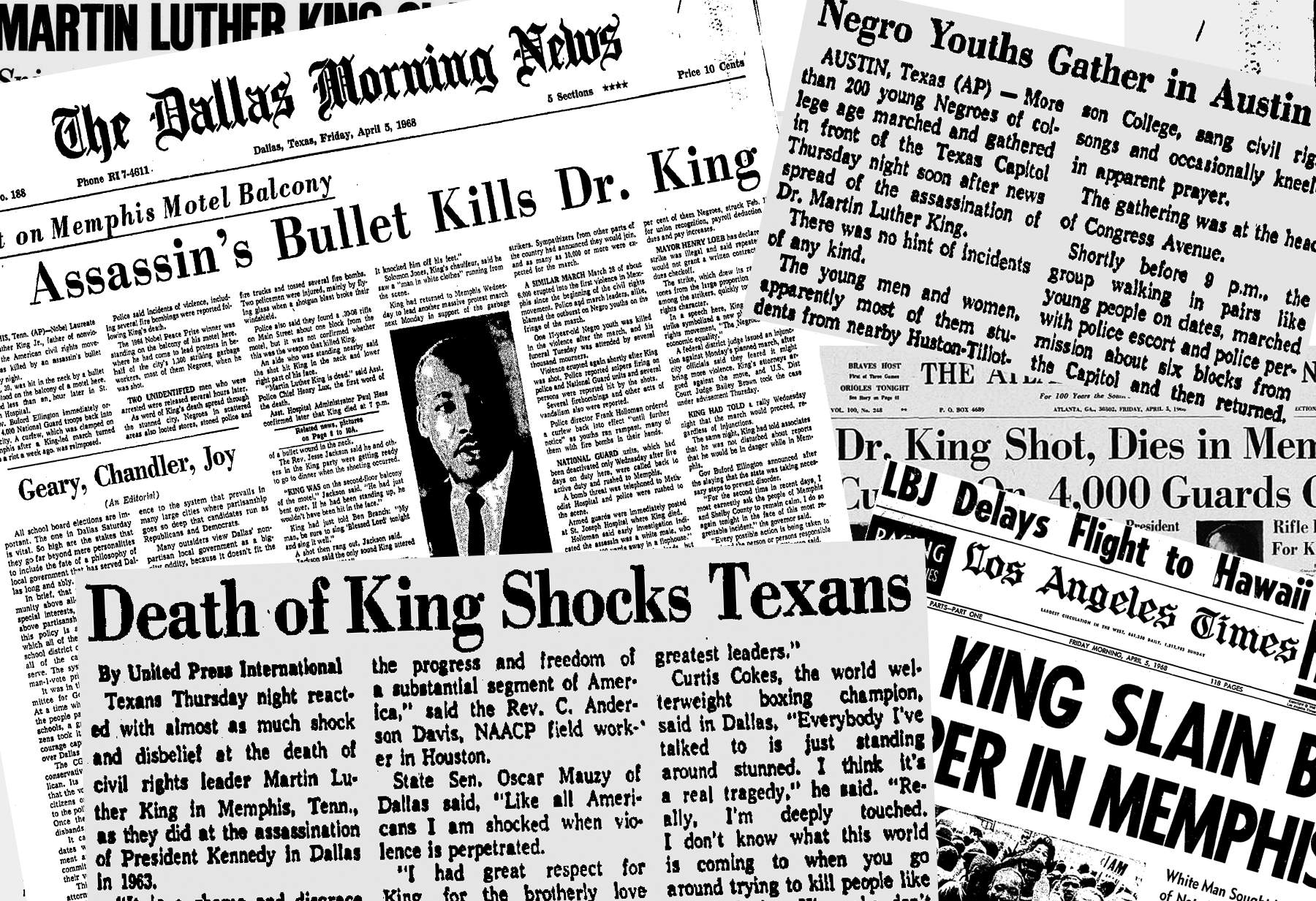 From The Archives How Dallas And Other Newspapers Reported The Mlk