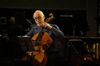 Cellist Jean-Michel Fonteneau plays with Music from Yellow Barn during the Soundings Concert Series at the Nasher Sculpture Center.(Lawrence Jenkins/Special Contributor)