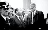 Martin Luther King, Jr. and Malcolm X met just once, on March 26, 1964.(Marion S. Trikosko)