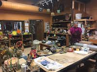 Andaz guests can visit the studio of ceramist Mary Van Dusen at the Cattle Track artists' colony.(Sophia Dembling/Special Contributor)