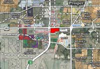 The property sold is at the southeast corner of the tollway and U.S. 380, across from the new Cinemark.( /Rex Real Estate)