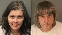Louise Anna Turpin and David Allen Turpin are being held on $9 million bail. (Agence France-Presse)