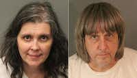 Louise Anna Turpin and David Allen Turpin are being held on $9 million bail.(Agence France-Presse)