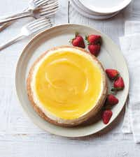 Meyer Lemon Cheesecake from <i>The Essential Instant Pot Cookbook </i>by Coco Morante(Colin Price/Ten Speed Press)