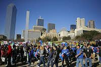 Protesters marched past the Dallas Convention Center during the Dallas March for Life & Rally in January 2014 .(File Photo/Staff)
