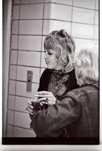 Barbara Cope backstage at Memorial Auditorium in 1968(From Cope's Facebook page)