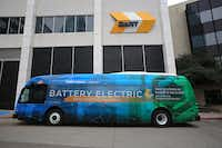 A prototype of the electric buses coming to Dallas for DART's D-Link(Mark Ball/DART)