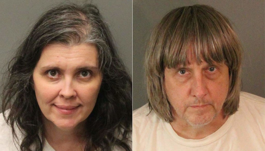 Parents of 13 siblings found beaten and shackled plead not guilty