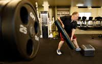 Chef Kent Rathbun works out at Equinox in Dallas. (Vernon Bryant/Staff Photographer)