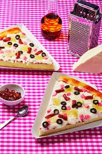 Pizza Slice cake from <i>How to Cake It</i>(Jeremy Kohm/William Morrow)