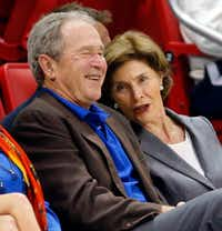 Former President George W. Bush Laura Bush will make a rare joint appearance at a fundraiser in March.(Tom Fox/Staff Photographer)