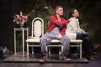"Armando Riesco and Zabryna Guevara in the Pulitzer Prize-winning play by Quiara Alegri­a Hudes,  <i>Water by the Spoonful</i>,  at the Second Stage Theatre in New York in 2012. (File Photo/<p><span style=""background-color: rgba(230, 93, 80, 0.2);"">The New York Times</span></p>)"