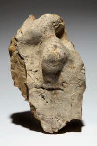 Neanderthal figure stone, Fontmaure, France. (Kevin Todora/Tony Berlant Collection)