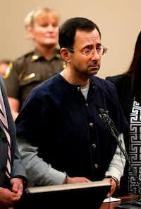 Disgraced former USA Gymnastics doctor Larry Nassar was sentenced to 40 to 175 years in prison on Wednesday for sexually abusing scores of young girls under the guise of medical treatment. (AFP/Getty Images)