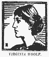 Illustration of Virginia Woolf that accompanied the review of her novel <i>To the Lighthouse</i>in the May 22, 1927, edition of <i>The Dallas Morning News</i>