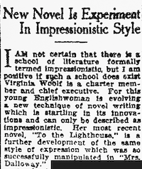 <p>May 22, 1927, article from <i>The Dallas Morning News</i></p>