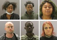 Plaintiffs in a civil rights lawsuit against Dallas County alleging the bail system violates the Constitution.  Top row, from left: Shakena Walston, Erriyah Banks, Destinee Tovar. Bottom row: James Thompson, Patroba Michieka, Shannon  Shawn  Daves(Dallas County Jail)