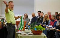 Garden Advisor Brieux Turner gives instruction during Growing Vegetables by Seed class, free to the public at North Haven Gardens in Dallas on Saturday, January 27, 2018. (Stewart F. House/Special Contributor)