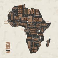 Africa vintage detailed map print poster design. Vector illustration.(rikkyal/Getty Images/iStockphoto)