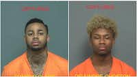 Eraycio Clark, 21, and Devundre Ghoston, 20, are thought to be responsible for a string of aggravated robberies.<br>(<br>/Mesquite Police Department<br>)