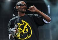 Hip-hop artist Snoop Dogg performs on stage at the Balaton Sound festival in Zamardi, Hungary, in 2015.(Tamas Kovacs/AP)
