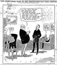 A cartoon from a 1916 edition of <i>The Dallas Morning News</i>