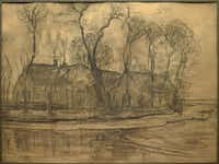 <br>(<p>Piet Mondrian, Farm Near Duivendrecht<i> (recto)</i>, c. 1905-14, charcoal on paper, Dallas Museum of Art, gift of Ann Jacobus Folz, 2017.44.1.a-b</p>/Dallas Museum of Art)