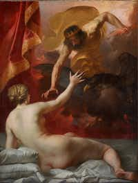 <p>Jacques Blanchard, <i>Zeus and Semele</i>, c. 1632, oil on canvas, Dallas Museum of Art, Foundation for the Arts Collection, gift of Mr. and Mrs. Thomas C. Campbell, 2017.</p>(Dallas Museum of Arts/Brad Flowers)