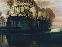 Piet Mondrian <i>Farm Near Duivendrecht, in the Evening</i>, c. 1916 (reprise of a compositional series from 1905 to 1908) Oil on canvas Overall: 31 1/2 x 41 3/4 in. (80.01 x 106.04cm.) Dallas Museum of Art, gift of The Edward and Betty Marcus Foundation (Dallas Museum of Art/Dallas Museum of Art)
