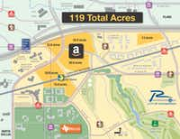 Available land, access to transit and a trained workforce are among pieces of Richardson's lure to draw Seattle-based technology and retail giant Amazon's $5 billion second headquarters.((UT Dallas/city of Richardson))