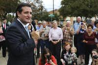 Republican Ted Cruz  talked to supporters in Mesquite during his 2012 campaign for U.S. Senate.(Ron Baselice/Staff Photographer)