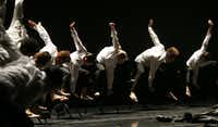 """Texas Ballet Theater's 2016 'First Looks' included '""""Mr. Gaga"""" Ohad Naharin's <i>Minus 16</i>at Dallas Performance Hall.(Nathan Hunsinger/Staff Photographer)"""