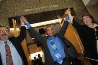 Johnnie Lindsey left the 292nd District Court a free man on&nbsp;Sept. 12, 2008, in Dallas. Lindsey, who died in February, spent 26 years in prison for a crime he did not commit.<div><br></div>(File Photo/Staff)