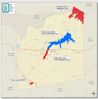 An illustration of the project area provided by the North Texas Municipal Water District. The project will be a key source of water for North Texas' rapidly growing population.<br>(North Texas Municipal Water District<br>/North Texas Municipal Water District<br>)