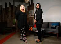 <p>Shanna Poteet Rivera (left) and Reena Bana said they were upset to learn that Sherin Mathews had been left home alone shortly before her death, and that Texas has no laws that would penalize any parent who did the same.</p>(Nathan Hunsinger/Staff Photographer)