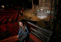 SMU graduate student Amelia Bransky designed the set of <i>Frankenstein</i> at Kalita Humphreys Theater in Dallas.(Jae S. Lee/Staff Photographer)