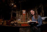 SMU graduate student Amelia Bransky at Kalita Humphreys Theater in Dallas. She designed the set of <i>Frankenstein</i>.(Jae S. Lee/Staff Photographer)