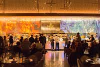 Decked out with the original fiery logo of the television show, Hell's Kitchen at Caesars Palace already has 25,000 reservations booked all the way into June.(Michael Hiller/Special Contributor)