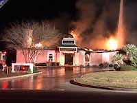 A fire tore through the Islamic Center of Victoria, a mosque, early Jan. 28, 2017.(Facebook)