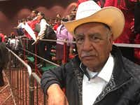 Isidro Esquivel was one of hundreds of PRI members who came to hear the candidate in Morelia, Michoacan.(Alfredo Corchado/Staff)