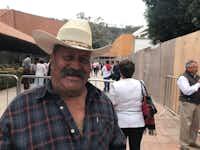 Jose Luis Padilla Aranjo traveled far to see the PRI candidate in Morelia, Michoacan.(Alfredo Corchado/Staff)