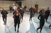 Dallas Black Dance Theatre and the Kickin' Brass Band join together to rehearse.(Rex C. Curry/Special Contributor)