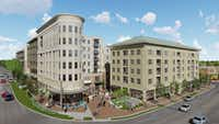 Crescent Communities' Novel Bishop Arts project will have more than 300 apartments and retail space.(WDG Architecture)