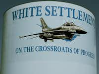 A White Settlement water towers, shown in 2005.(Ron Baselice/Staff photographer)