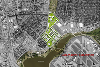 This map was released last summer when the University of Texas at Arlington announced it was looking at how a north entrance for Dallas Love Field would impact the surrounding area, including Bachman Lake.