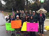 """Team Karen"" cheered on Karen Katz when she ran the Dallas Marathon in December 2015.(Courtesy Maryann Mihalopoulos)"