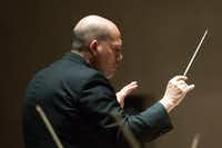 Jaap van Zweden the Dallas Symphony Orchestra at the Meyerson Symphony Center on Thursday.  (Allison Slomowitz/Special Contributor)